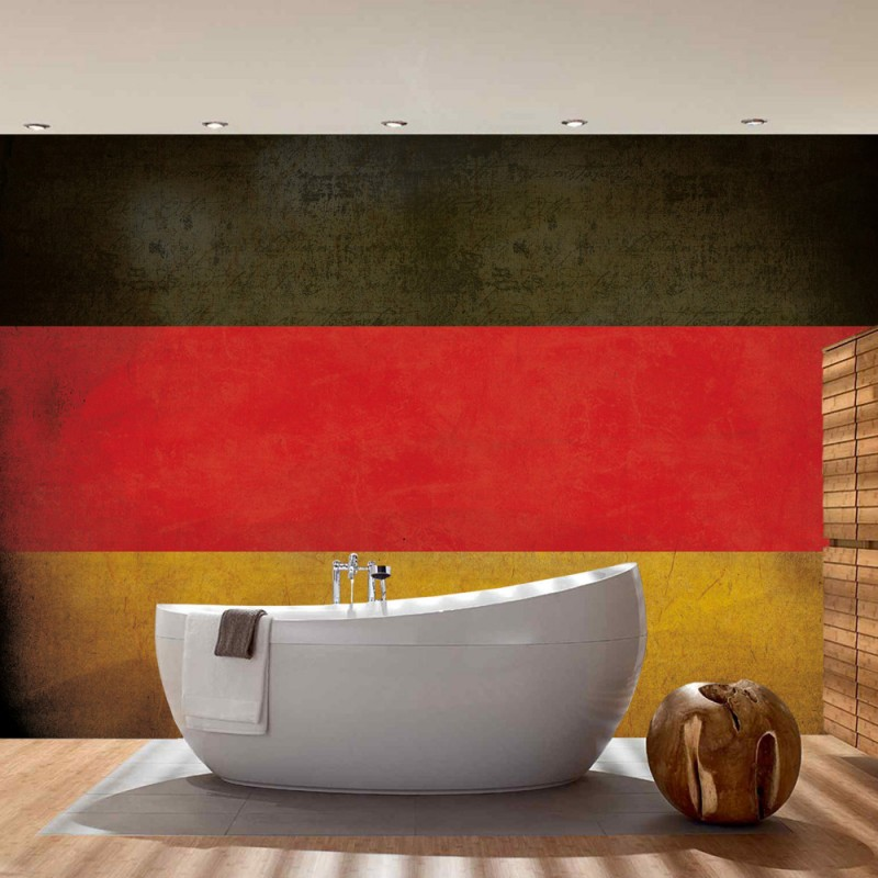 vlies fototapete no 3450 vliestapete liwwing r texturen tapete schwarz rot gold flagge. Black Bedroom Furniture Sets. Home Design Ideas