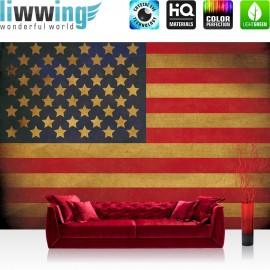 Vlies Fototapete no. 3451 | Texturen Tapete Star Spangled Banner, Flagge, USA, Amerika bunt | liwwing (R)