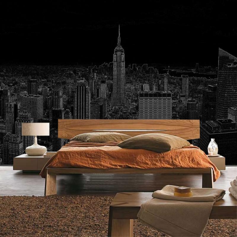 tapeten new york fototapete foto tapete new york. Black Bedroom Furniture Sets. Home Design Ideas