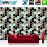 Vlies Fototapete no. 3462 | Texturen Tapete Polygone, Sechsecke, Hexagon bunt | liwwing (R)