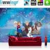 Vlies Fototapete no. 3484 | Kindertapete Tapete Anna, Eiskönigin, Frozen, Olaf, Sven, Kristoff bunt | liwwing (R)