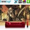 Vlies Fototapete no. 3498 | Illustrationen Tapete Tod, Hexer, Magier, Kerzen, Katze, Schmetterlinge braun | liwwing (R)