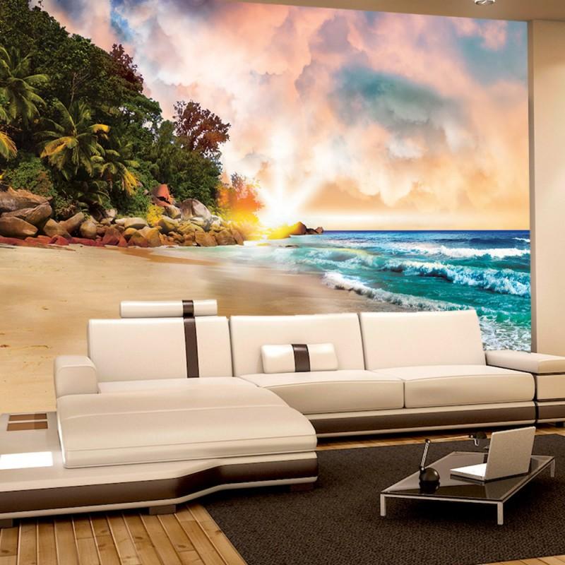 vlies fototapete no 3525 vliestapete liwwing r meer tapete sandstrand karibik s dsee. Black Bedroom Furniture Sets. Home Design Ideas