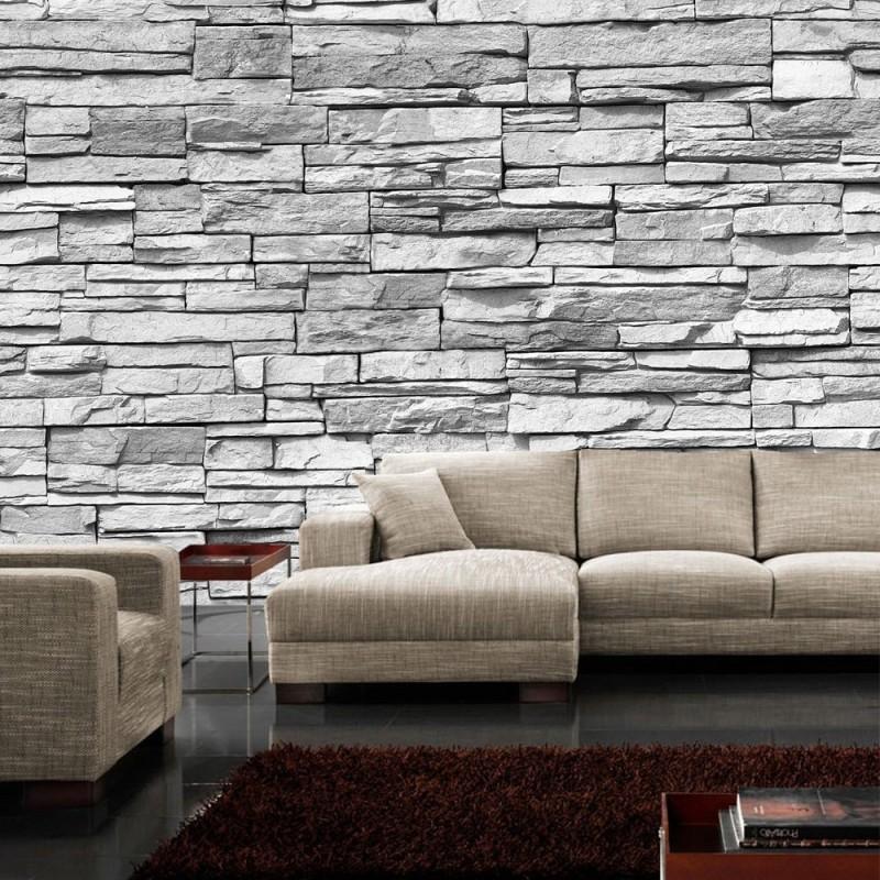 "fototapete ""asian stone wall - grau - anreihbar"" | steinwand, Wohnideen design"