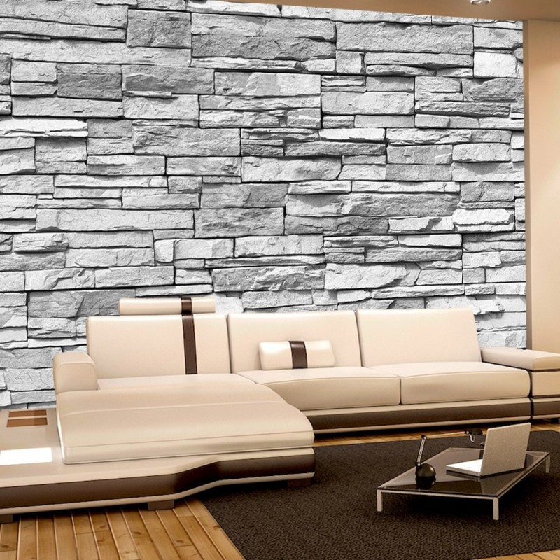 vlies fototapete asian stone wall grau anreihbar. Black Bedroom Furniture Sets. Home Design Ideas