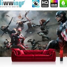 Vlies Fototapete no. 3538   Kindertapete Tapete The Avengers, Captain America, Iron Man, Schwarze Witwe bunt   liwwing (R)