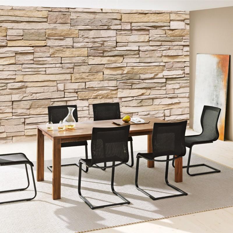 Dekor Steinwand Kunststoff :  anreihbar steinwand tapete steinoptik steine wand wall beigejpg