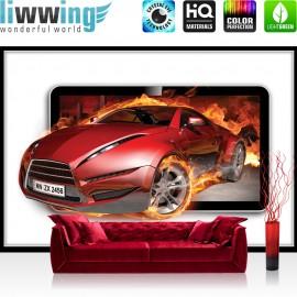 Vlies Fototapete no. 3563 | Autos Tapete Sportwagen, Fahrzeug rot | liwwing (R)