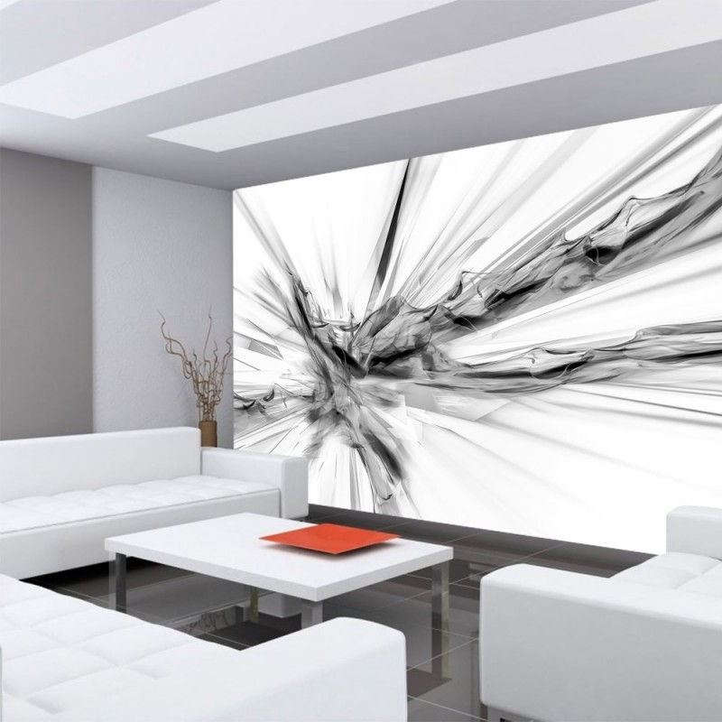Tapete grau top texturen tapete rauch splash abstrakt for Backstein tapete bauhaus