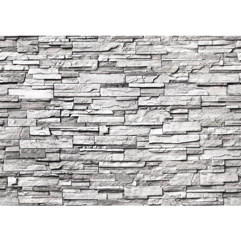 fototapete noble stone wall grau endlos anreihbar haus garten - Steinwand Grau