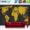 Vlies Fototapete no. 3169 | Welt Tapete Weltkarte, Asphalt, Graffiti, Beton gelb | liwwing (R)