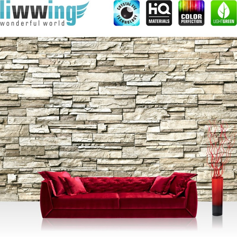 premium fototapete no 134 noble stone wall beige endlos anreihbar ste ebay. Black Bedroom Furniture Sets. Home Design Ideas