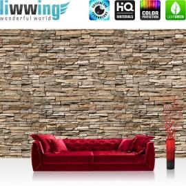 "Vlies Fototapete ""Asian Stone Wall no. 2"" | Steinwand Tapete Steinoptik Steine Wand Wall grau"