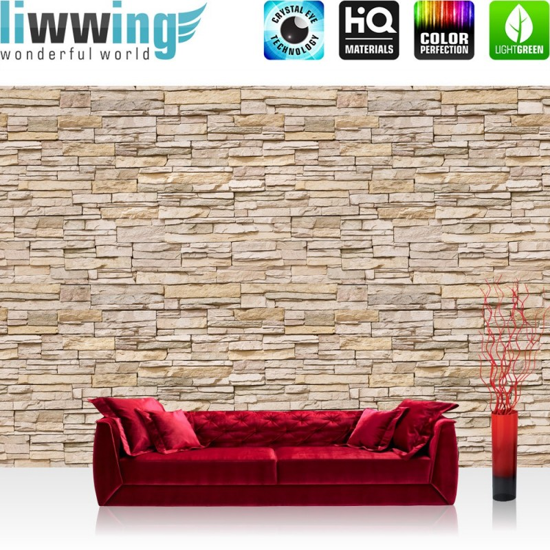 vlies fototapete asian stone wall no 2 beige kleinere steine anreihbar ebay. Black Bedroom Furniture Sets. Home Design Ideas
