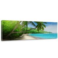Leinwandbild Paradise Beach Strand Meer Palmen Beach 3D Ozean Palme | no. 5