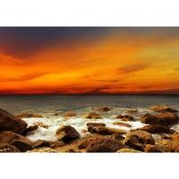 Fototapete Rocky Beach Sunset Sonnenaufgang Tapete Sonnenaufgang Strand Meer Felsen Sunset sepia | no. 60