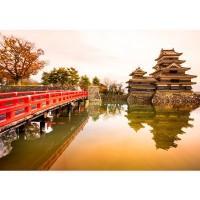 Fototapete Japan Tapete Japan Brücke Wasser Ruhe Romantisch lila | no. 263
