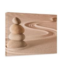 Leinwandbild Sand Natur Ruhe Beige | no. 222