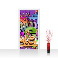Türtapete - Kinderzimmer Graffiti Streetart Graffitti Sprayer 3D bunt | no. 221