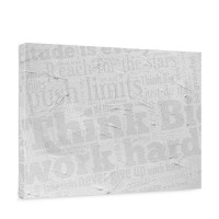 Leinwandbild Wall of BIG Words Ornamente Schrift Text Hintergrund Office Büro | no. 124