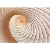 Fototapete 3D Tapete Abstrakt Muschel Geflecht Netz Tunnel Spirale 3D beige | no. 904