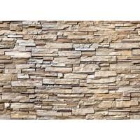 Fototapete Noble Stone Wall - natural - ENDLOS anreihbar Tapete Steinwand Steinoptik Steine Wand Wall beige | no. 135