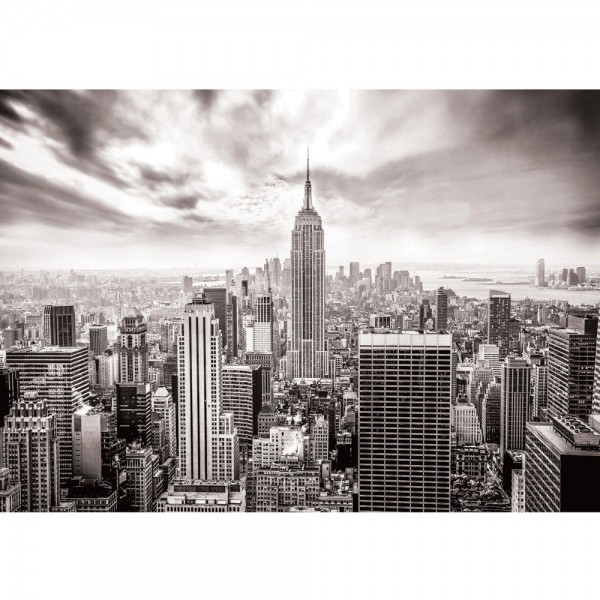Fototapete Skylines Tapete Building Tower Skyline City grau | no. 690