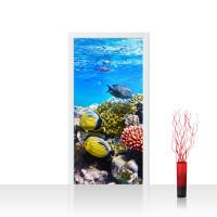 Türtapete - Underwater Reef Aquarium Unterwasser Meer Fische Riff Korallenriff | no. 105