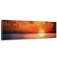Leinwandbild Caribbean Sundown Sonnenaufgang Meer Strand Beach Palmen | no. 117
