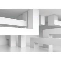 Fototapete Kunst Tapete Abstrakt Linien Ecken 3D weiß | no. 591