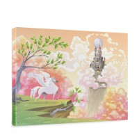 Leinwandbild Magic Pegasus Kinderzimmer Kinder Mädchen Einhorn Märchen | no. 86