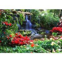 Fototapete Wald Tapete Wasserfall Urwald Pflanzen Baum Natur grün | no. 448