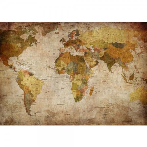 Fototapete Vintage Atlas Welt Tapete Weltkarte Antik Atlaskarte Atlanten Karte alte Karte alter Atlas braun | no. 29