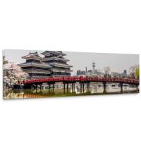 Leinwandbild Japan Turm Kaiser Wasser Natur | no. 253