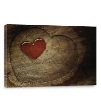 Leinwandbild Holz Herz Romantik Liebe Harz | no. 332