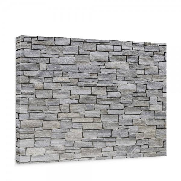 Leinwandbild Steinwand Steinoptik Steine Wand Mauer Stein   no. 162