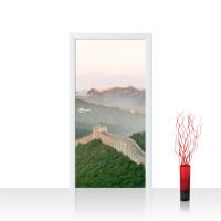 Türtapete - China Mauer Steine Natur Ausblick | no. 251