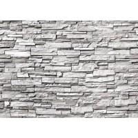 Fototapete Noble Stone Wall - grau - ENDLOS anreihbare Tapete Steinwand Steinoptik Steine Wand Wall grau | no. 132