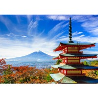 Fototapete Japan Tapete Japan Tokio Turm Herbst Himmel Ausblick braun | no. 261