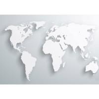 Fototapete Welt Tapete Weltkarte Atlas Kontinente 3D Optik braun | no. 215