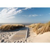 Fototapete North Sea Dunes Strand Tapete Strand Meer Nordsee Ostsee Beach Wasser Blau Himmel Sonne Sommer blau | no. 38