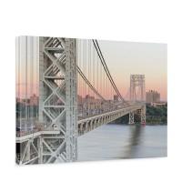 Leinwandbild Skyline Brücke Bridge Sonnenuntergang | no. 187