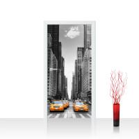 Türtapete - Manhattan Skyline Taxis City Stadt Skyscapers   no. 210