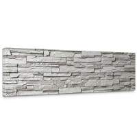 Leinwandbild Noble Grey Stone Wall Steinwand Steine Wand Wall | no. 19