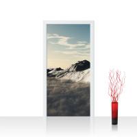 Türtapete - Gebirge Himmel Wolken Sonne | no. 244