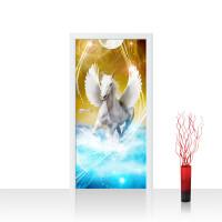 Türtapete - Pegasus Wasser Mond Sterne | no. 1076