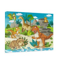 Leinwandbild My first Dinos Kinder Kinderzimmer Dino Dinosaurier Trex | no. 119