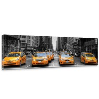 Leinwandbild Manhattan Skyline Taxis City Stadt Skyscapers | no. 210