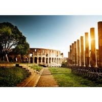 Fototapete Colosseum Walk - Rome Italien Tapete Rom Kolosseum Italien Landschaft Architektur bunt | no. 52