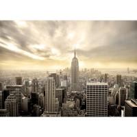 Fototapete Manhattan Skyline View USA Tapete New York USA Skyline Sephia Empire State Building braun | no. 37